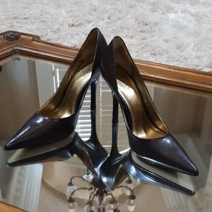 Guess Carrie Brown Leather Heels